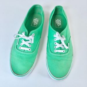 Vans Mens Light Green Skater Shoes Size 11.5